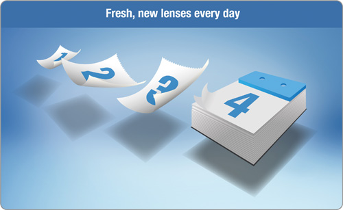 Daily Disposable Contact Lenses for a fresh new lens every day.